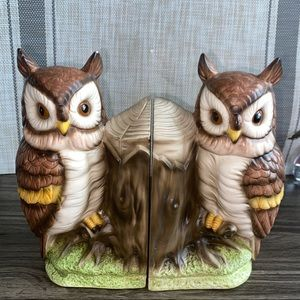 Vintage owl bookend